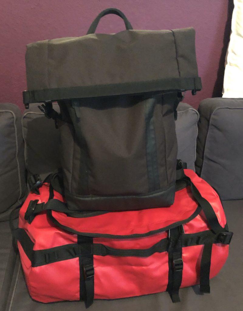 Reisen nur mit Handgepäck mein Setup