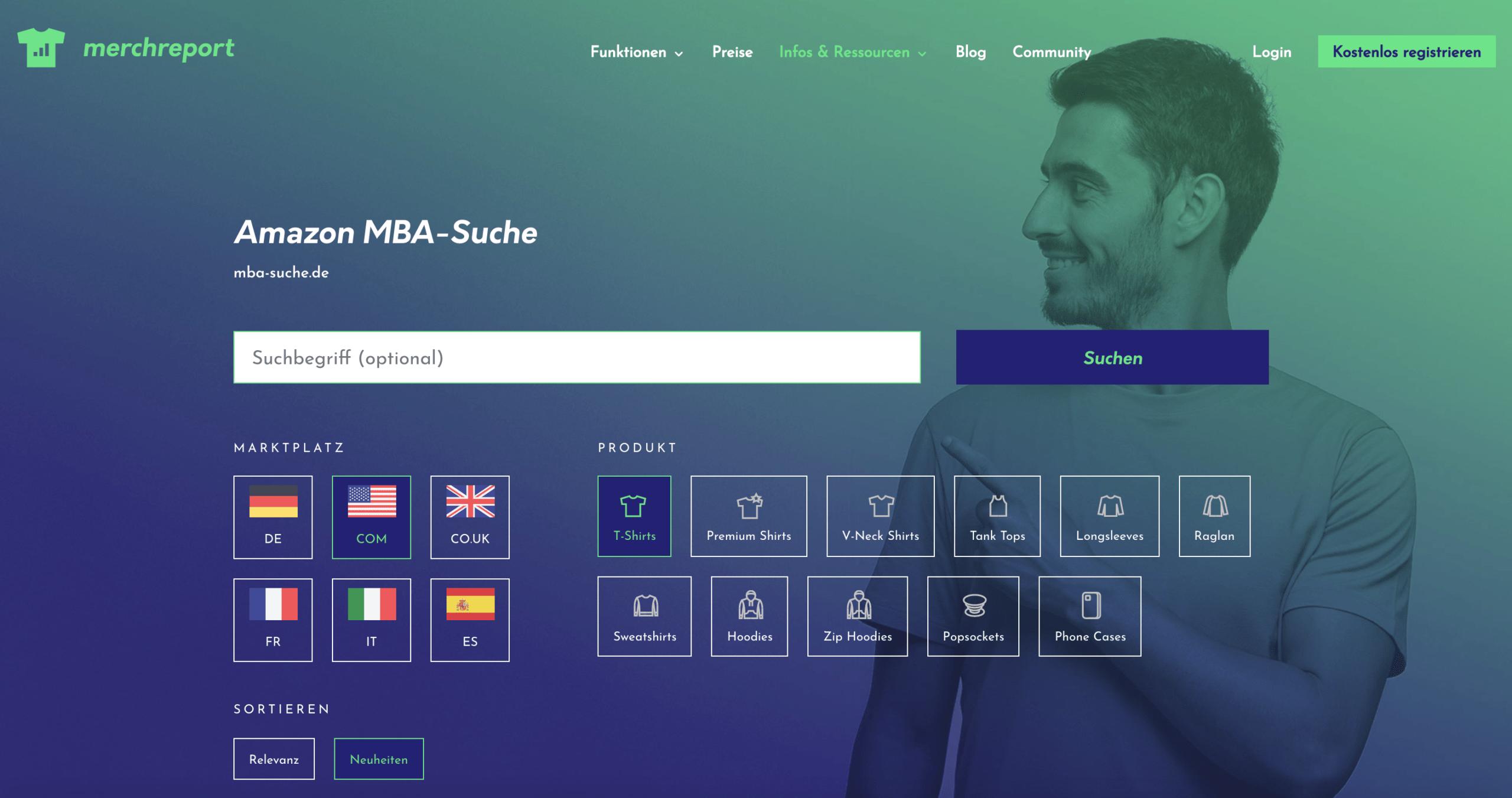 MBA-Suche.de Filter